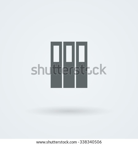 Archive folders for paper vector icon. Logo. Pictogram. Button. - stock vector