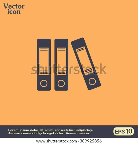 Archive folders vector icon