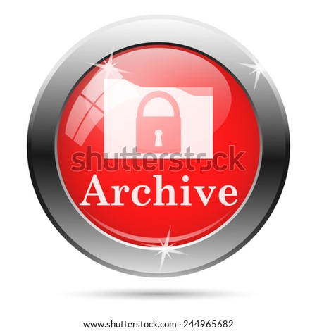 Archive icon. Internet button on white background.  - stock vector