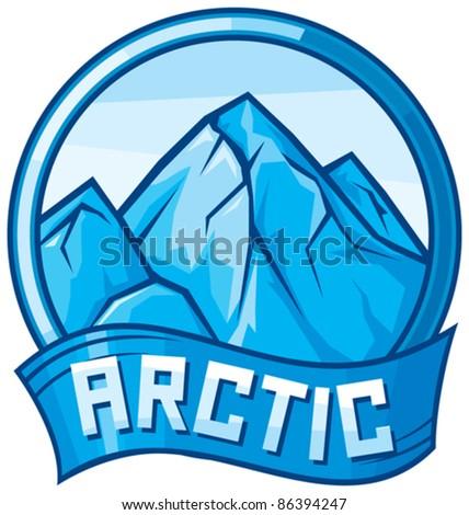 arctic design (arctic label) - stock vector