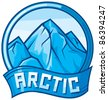 arctic label - stock photo