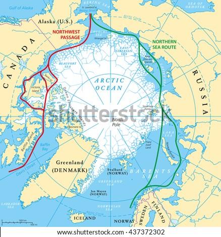 Arctic Circle Map Stock Images RoyaltyFree Images Vectors - Map of arctic circle