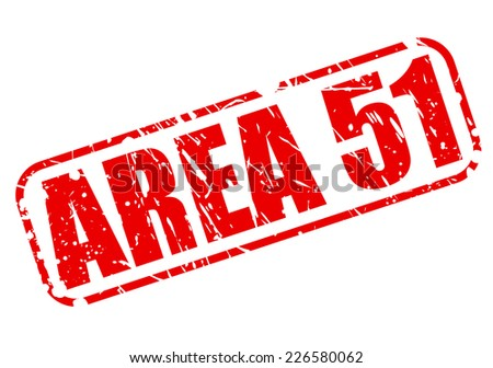 Area 51 red stamp text on white - stock vector
