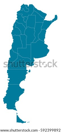 There Map Argentina Country Stock Vector Shutterstock - Argentina map vector free