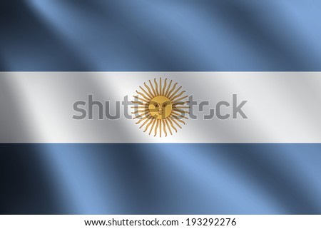 ARGENTINA flag - stock vector
