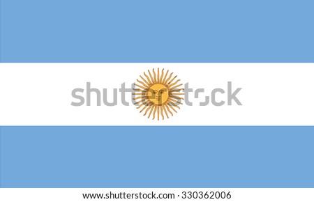 Argentina flag - stock vector