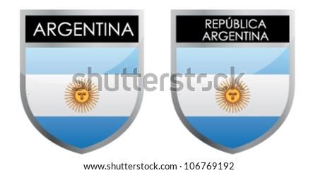 Argentina flag emblem - stock vector