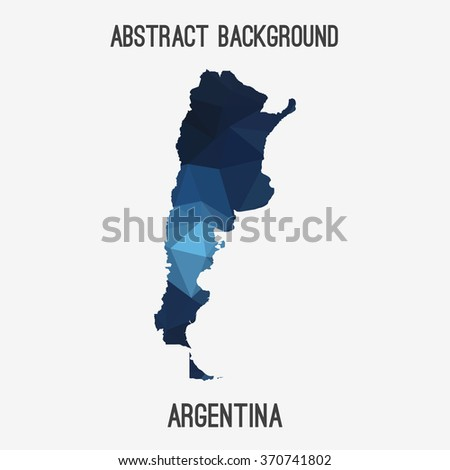 Argentina in geometric polygonal style.Abstract tessellation,modern design background. Vector illustration EPS8 - stock vector