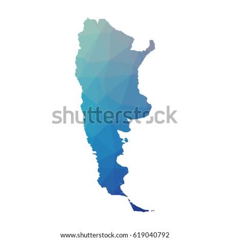 Map Argentina Map Concept Stock Vector Shutterstock - Argentina map vector