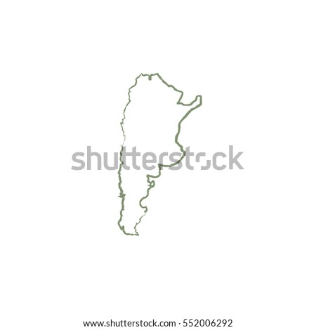 Argentina Map Vector Icon Beautiful Line Stock Vector - Argentina map vector free