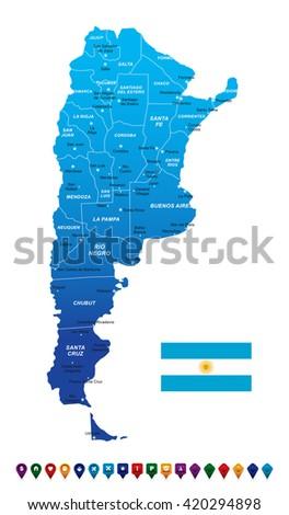Argentina Map Vector Illustration Stock Vector - Argentina map vector