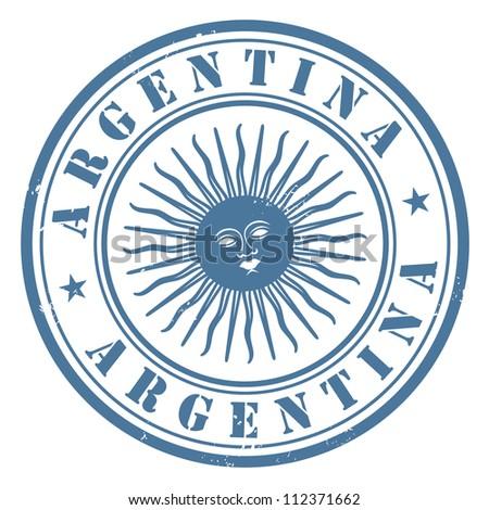 argentina stamp - stock vector