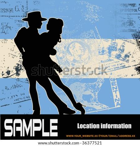 Argentine Tango - stock vector