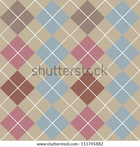 Argyle Grey Seamless Pattern - stock vector