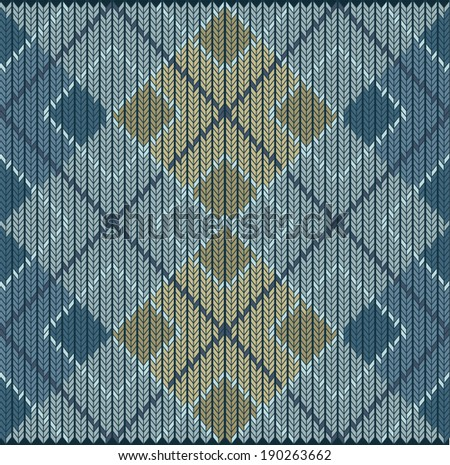 Argyle vector abstract pattern background - stock vector
