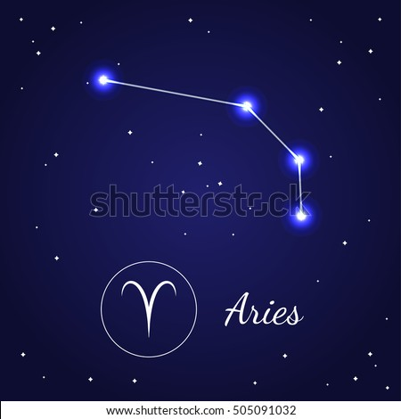 Aries Zodiac Sign Stars On Cosmic Stock Vector Hd Royalty Free