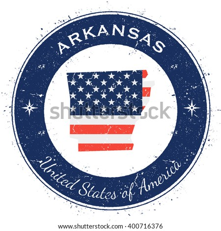 Arkansas State Flag Stock Photos RoyaltyFree Images Vectors - Us map with state flags