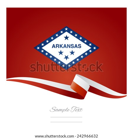 Arkansas flag ribbon vector - stock vector