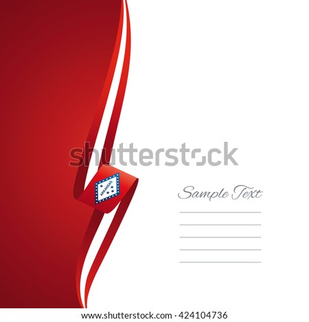 Arkansas left side brochure cover vector - stock vector