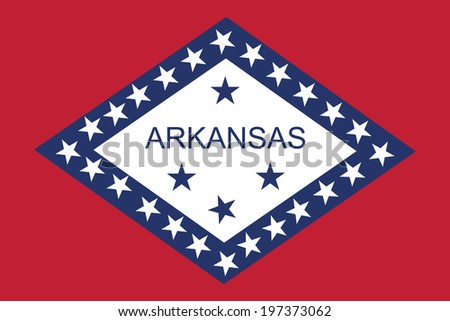 Arkansas vector flag isolated. - stock vector