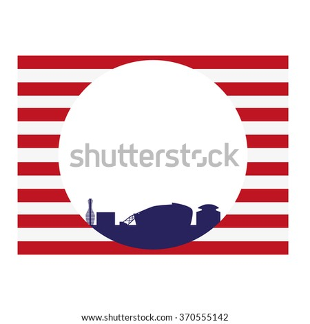 Arlington, Texas (city skyline) - stock vector