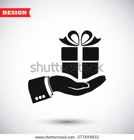 Arm of gift  icon, arm of gift  pictograph, arm of gift  web icon, arm of gift  icon vector, arm of gift  icon eps, arm of gift  icon illustration, arm of gift  icon picture, arm of gift  flat icon - stock vector