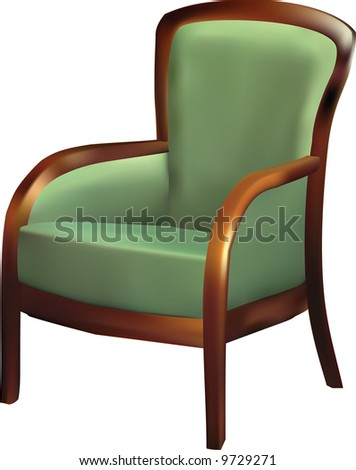 armchair. Vector - stock vector