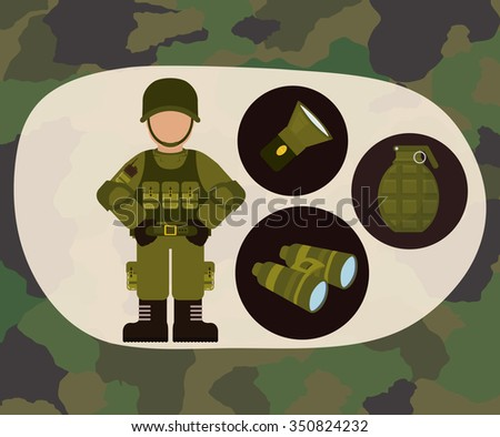 Armed forces concept  with military icons design, vector illustration 10 eps graphic.