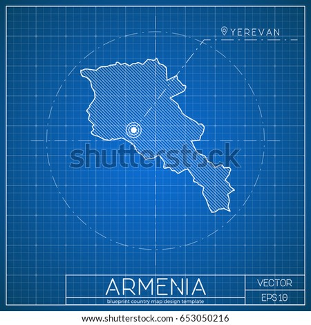 Sweden Blueprint Map Template Capital City Stock Vector - Sweden map template