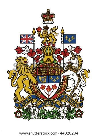 Arms of Canada - stock vector