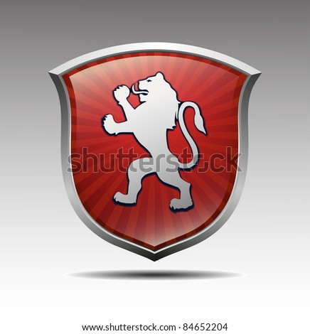 Arms with lion vector - stock vector