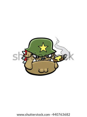 army bulldog - stock vector