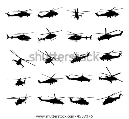 Army Helicopter Vector Illustration