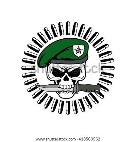 vector illustration stylized irish skull shamrock stock vector 577973863 shutterstock. Black Bedroom Furniture Sets. Home Design Ideas