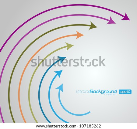 Around arrows on grey background | EPS10 Vector Design