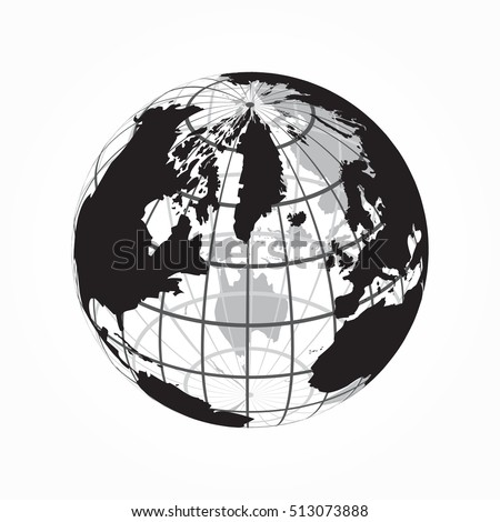Around world outline world map latitude stock vector 513073888 around the world outline of world map with latitude and longitude gumiabroncs Gallery