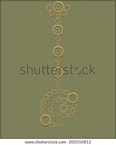 arroba - stock vector