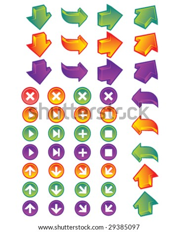 arrow and buttons and controls oh my - stock vector
