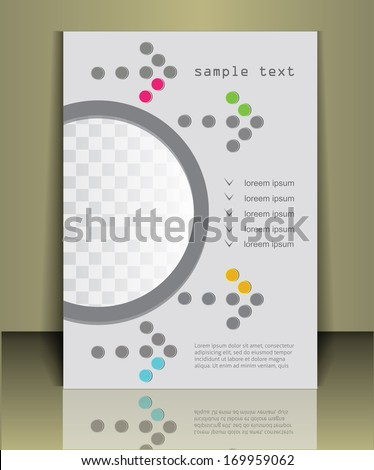 Arrow background  business brochure or magazine cover  template - stock vector
