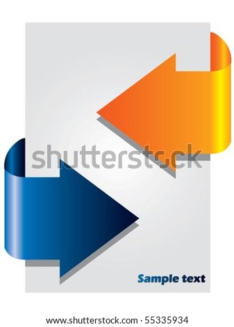 Arrow brochure with two colors - stock vector