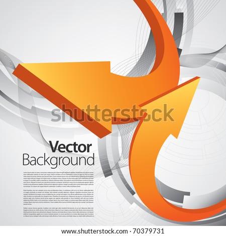 arrow business background - stock vector