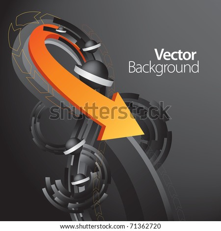 arrow business background - stock vector