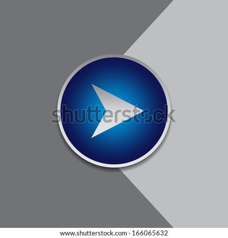 arrow button - stock vector