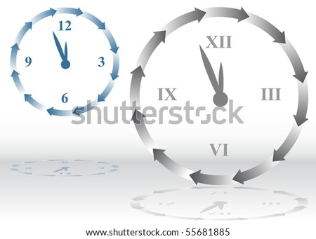 Arrow Clock - stock vector