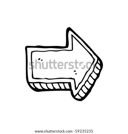 arrow drawing - stock vector