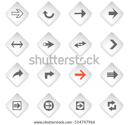 arrow flat web icons for user interface design