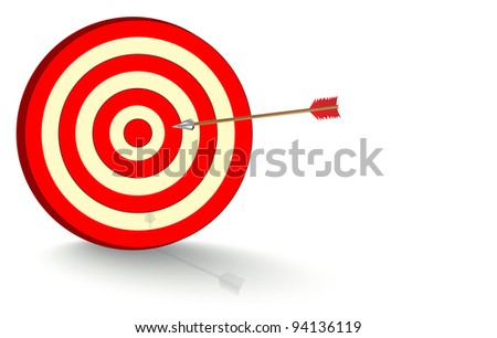 Arrow fly right on the target,
