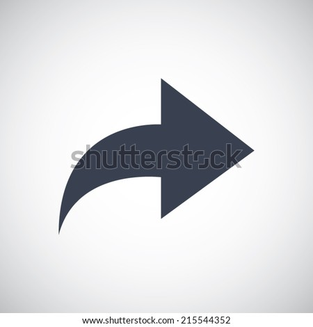 Arrow forward redo replay next right pictogram. Simple flat metro style. Vector icon illustration save for esp10 - stock vector