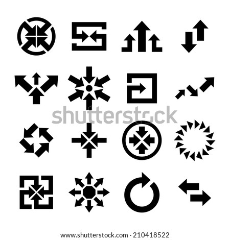 Arrow Icon - stock vector