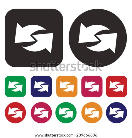 Arrow icon / isolated arrow icon / Vector - stock vector